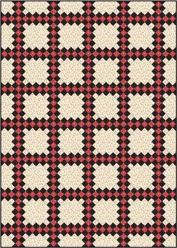 Double Irish Chain Quilt Pattern - diagonal set