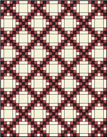 Double Irish Chain Quilt Pattern - straight set