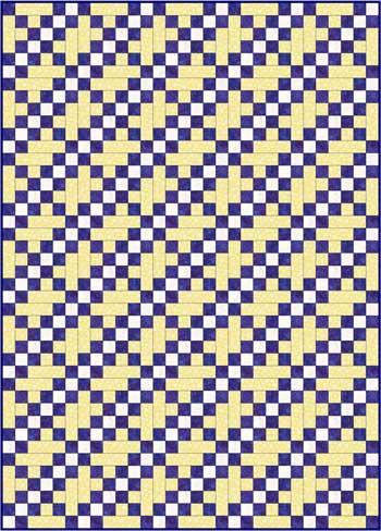 Double Irish Chain Quilt Pattern Variation - straight set