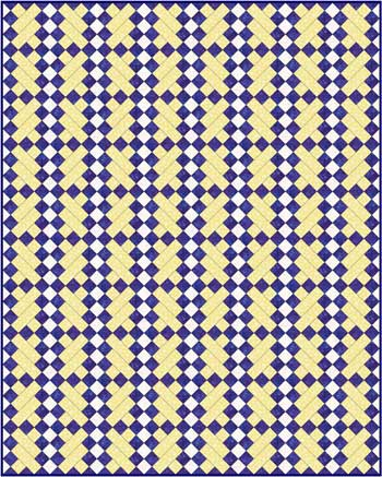 Double Irish Chain Quilt Pattern Variation - diagonal set