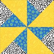 Click here for instructions to make the Double Pinwheel quilt block
