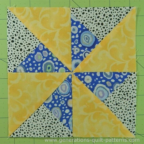 Finished Double Pinwheel quilt block