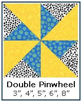 Double Pinwheel quilt block tutorial