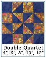 Double Quartet quilt block tutorial