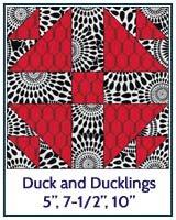 Duck and Ducklings quilt block tutorial
