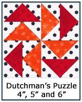 Dutchman's Puzzle quilt block tutorial