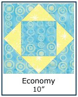 Economy quilt block tutorial - 10inch block