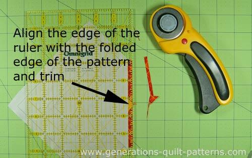 Trim the seam to 1/4 inch