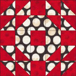 English Wedding Ring quilt block design