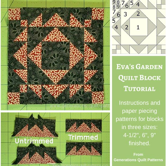 Eva's Garden quilt block tutorial