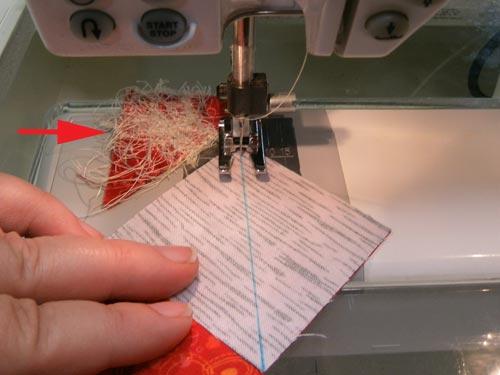 Sew the first seam