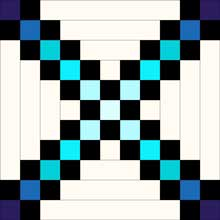 Expanded Double Irish Chain Quilt Block
