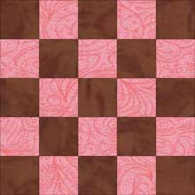 Federal Chain quilt block 1