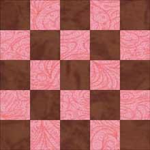 Federal Chain quilt block 1