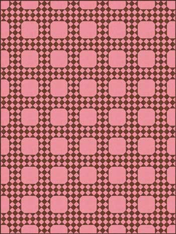 Federal Chain Quilt Pattern - horizontal set