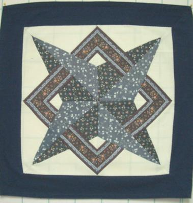 Starbound Blue and Border Fabric 15.5