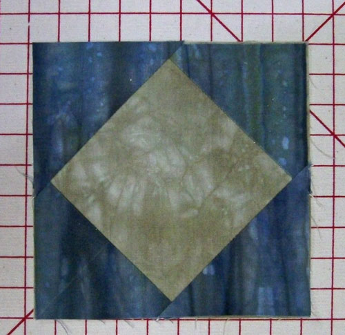 Finished square in a square block made from connector cornersw