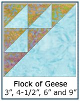 Flock of Geese quilt block
