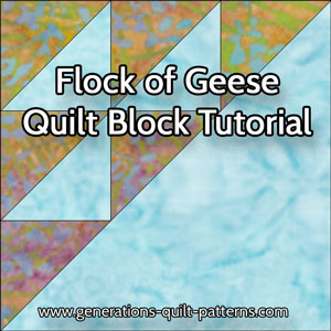 The Flock of Geese quilt block tutorial starts here...