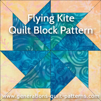 Flying Kite quilt block instructions
