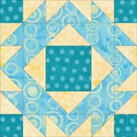 Click here to go to the instructions to make a Four Crowns quilt block