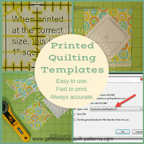 How to download, print and use our Free Quilting Templates