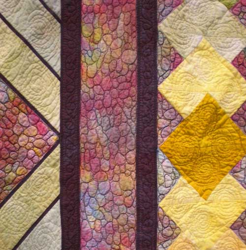 Detail from Alice Heckman's Three Color Study quilt