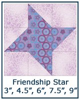 Friendship Star quilt block tutorial