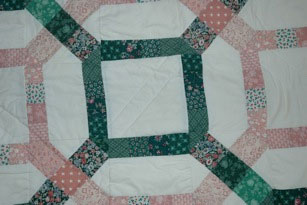 Close-up of the original quilt block