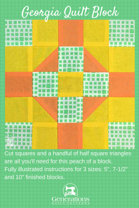 Georgia Quilt Block Tutorial 5 Quot 7 1 2 Quot And 10 Quot Finished