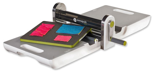 Go! Fabric Cutter includes Value Die, cutting mat and die pick
