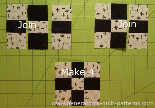 Step-by-step for constructing a 9-patch