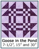 Goose in the Pond quilt block tutorial