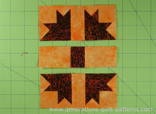 Press SA towards the rectangles