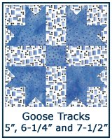 Goose Tracks quilt block tutorial