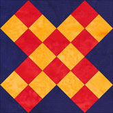 Grandmothers Cross quilt block