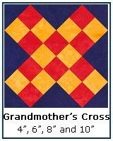grandmother's Cross quilt block tutorial