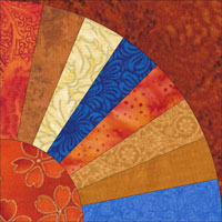 Grandmother's Fan quilt block