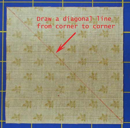 Mark the diagonal line
