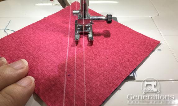 Sewing HST seams