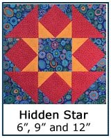 Hidden Star quilt block tutorial