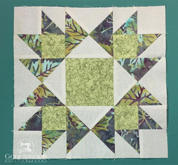 Our Honeymoon quilt block is ready to be added to a quilt