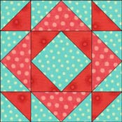 Hourglass quilt block variation 9