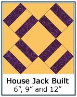 House Jack Built quilt block tutorial