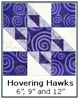 Hovering Hawks quilt block tutorial