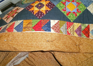 Extra quilt batting wrapped