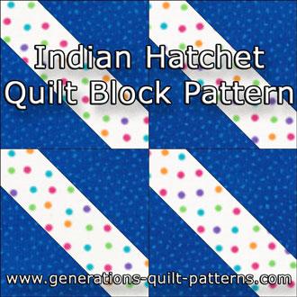 The Indian Hatchet quilt block tutorial starts here...