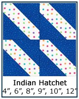 Indian Hatchet quilt block tutorial