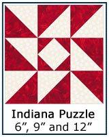 Indiana Puzzle quilt block tutorial link