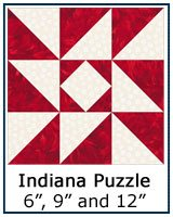Indiana Puzzle quilt block tutorial